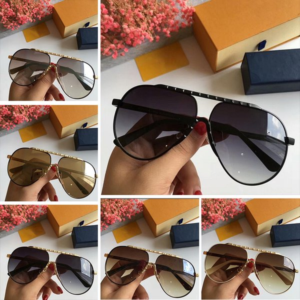 Luxuyr Z0982E Sunglasses For Men UV Protection Lens Z0982E Fashion Oval Coating Mirror Lens Frameless Color Plated Frame Come With Package