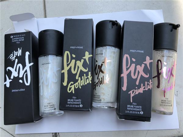 Prep + Prime Fix Mattfix Goldlite Fix Pinklite Shimmer Setting Spray Beste Qualität Langanhaltender Feuchtigkeitsprimer 100ml