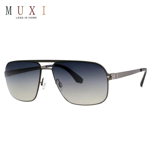 MUXI Free Shipping New style 2018 fashion designer latest polarized men metal frame top quality sunglasses