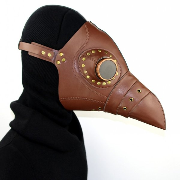 Steam Punk Mask The Plague Beak Doctor Mask Halloween Gift Stage Property Cosplay Costume Ball Party Free Shipping G223S
