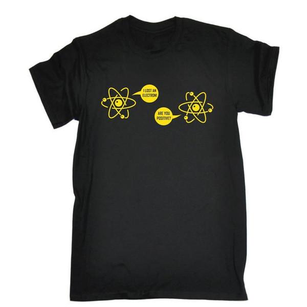 Style Print Tee Shirt Men'S Regular O-Neck Short-Sleeve I Lost An Electron Tee Shirt