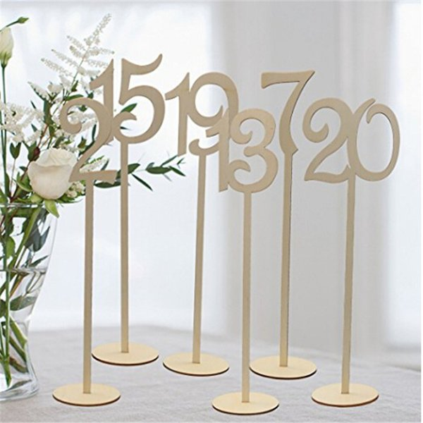 10pcs/pack Hot style Wooden wedding supplies wedding Place holder table number figure card digital seat Decoration YL990472