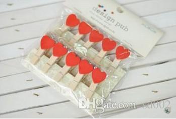 Mini En Bois Scratch Clip Vêtements Photo Papier Peg Pin Diy Atmosphère Chaleur Outils Pratique Coeur Forme Boucles 4 8zr3 ii