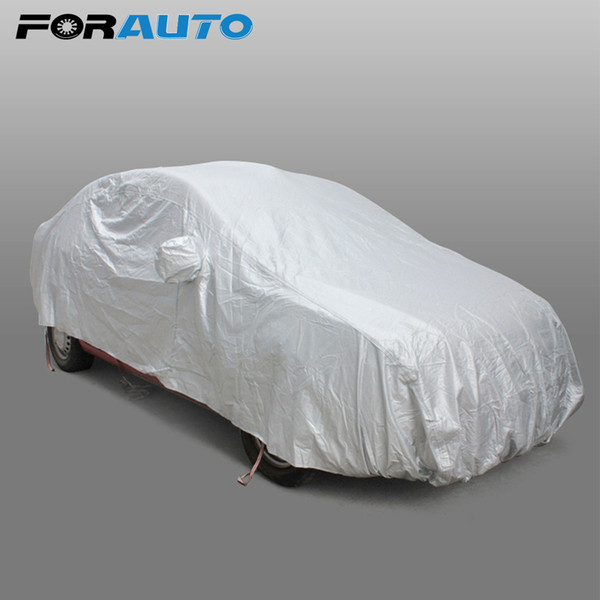 best selling Car Cover Sun Shade Sedan Scratch Resistant Case for the auto Car styling Covers Hook Up Anti-UV Protection Snow Shield