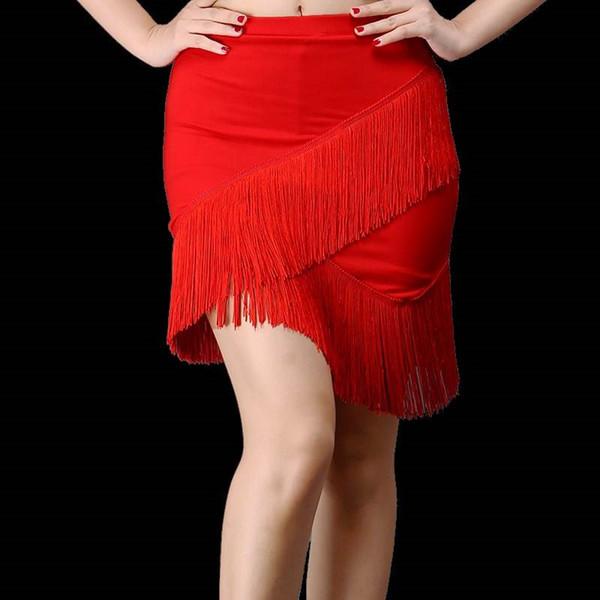 Nuevo adulto Sexy faldas de baile latino Escenario Ropa profesional Tutu Tango Salsa Ropa de baile Faldas latinas con flecos