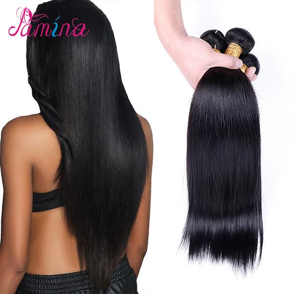Spring Queen Hair Products 10A Virgin Filipino Straight 4PC Unprocessed Human Hair Weave Unice Filipino Virgin Hair Bundles