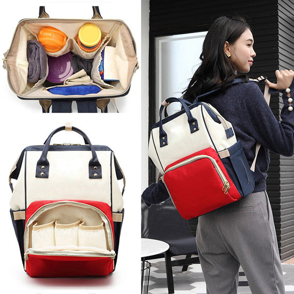 Mommy Backpacks Mom Nappies Bags Fashion Mother Backpack Diaper Maternity Backpacks Large Designer Nursing Outdoor Travel Handbags
