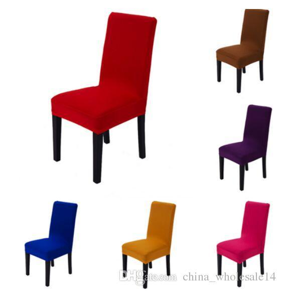 1pc Solid Color Spandex Polyester Stretch Dining Party Decoration Chair Cover Durable Universal Arm Office Seat Covers Wholesale