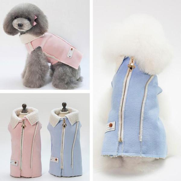 Moda Sonbahar kış pet köpek kostüm kalın köpek giysileri sıcak köpekler ceket giyim yüksek kaliteli evcil ceket 5 boyutu S-XXL