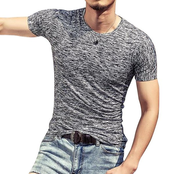 CALOFE Men's Running Shirts Quick Dry Short Sleeve T-shirts For Fitness Summer O-Neck Quick-dry Slim Homme Outwear Tops & Tee