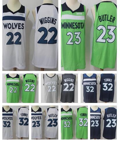 new concept b368a 3ad9a 2018 Minnesota Timberwolves 23 Jimmy Butler Jerseys 32 Karl ...