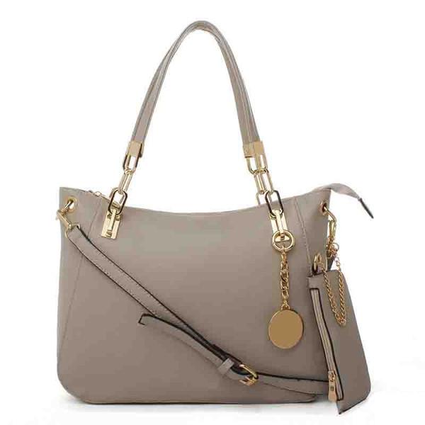 Free shipping Luxury brand 2pcs/set Tassels Composite Bags Women Handbag Shoulder Bag + Purse Crossbody Bags Girl Soild PU Leather Tote Set