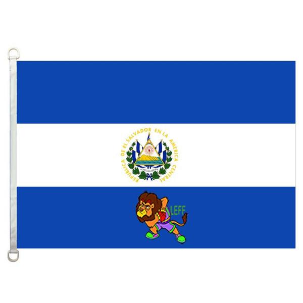Сальвадор флаг, 90 * 150 см, 100% полиэстер, баннер, цифровая печать
