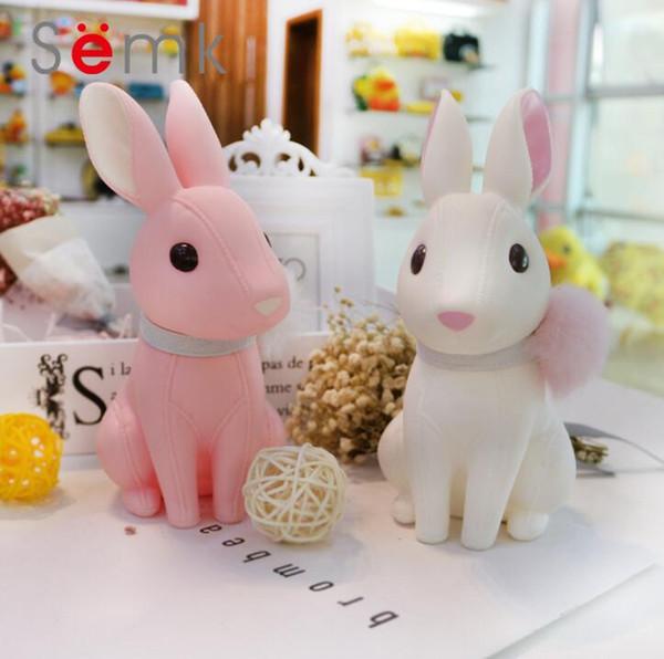 Semk tavşan kumbara karikatür yaratıcı silikon PVC bebek kumbara hediye reçine el sanatları süsler ücretsiz kargo