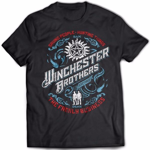 Casual Shirt Tee Men's Short Sleeve Printing Machine O-Neck Supernatural T-Shirt American Wb Tv Hit Tv Series Men Tee T Shirts