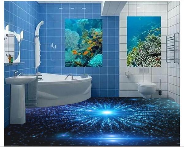 Самоклеящиеся 3D обои индивидуальные 3D напольная живопись обои 3D Starlight Blu-ray athroom гостиная пол обои home decor