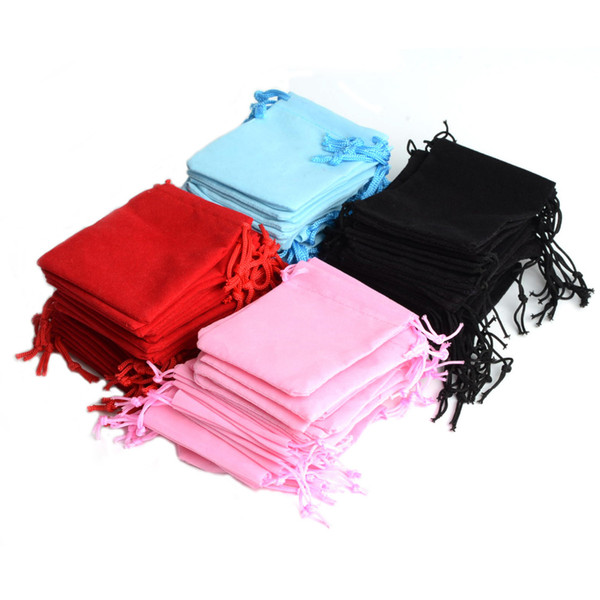 2016 New Gift Box Fabric Pouches Jewelry Display Wholesale 100pcs Mix Color 5x7cm Velvet Bag/jewelry Bag/organza Pouch #90002
