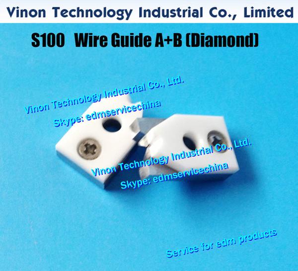 d=0.31mm S100 edm Wire Guide A+B Diamond 3083331, Upper Split Wire Guide AB 0.31mm 0204712 for AQ,A,EPOC series J13108A wire cut machine