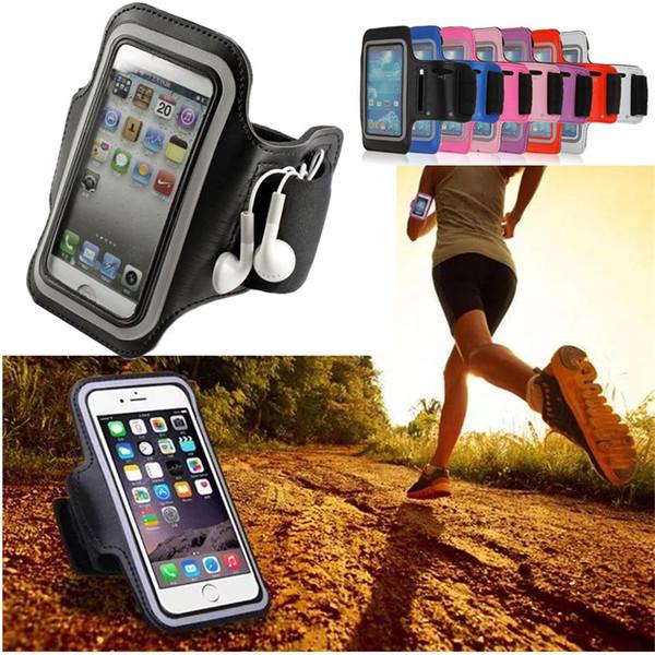 Cas de brassard de sport léger universel étui de téléphone étanche pour courir pour Huawei xiaomi Smartphone 4.0-5.7