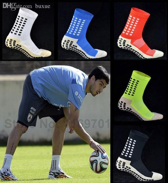 Wholesale-New Anti Slip Fußball Socken Baumwolle Fußball Socken Männer Socken Calcetines Die Gleiche Art Wie Die Trusox