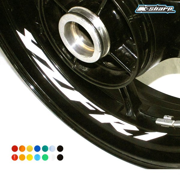 MTKRACING Free shipping 8 X CUSTOM INNER RIM DECALS WHEEL Reflective STICKERS STRIPES for YAMAHA YZF R1