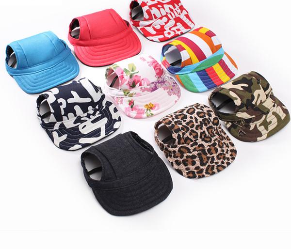 Sevimli Pet Köpek Kap-Küçük Pet Yaz Tuval Kap Köpek Beyzbol Visor Şapka Yavru Açık Sunbonnet Kap-Pet Malzemeleri Aksesuarları