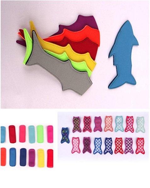 best selling Popsicle Holder New shark style ice lolly sets of colorful summer ice Cream tools Ice Pop For kids children's gifts T5I006
