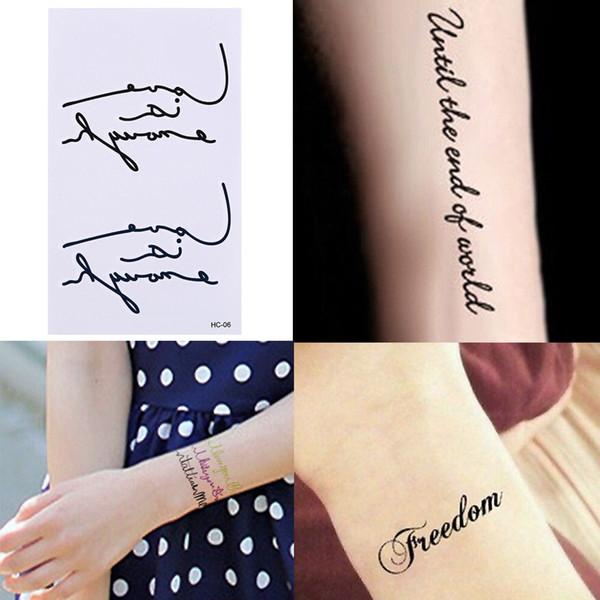 ae87fb7c24572 Love Leers Paern Waterproof Glue InkTaoo Love Temporary Taoos Sticker