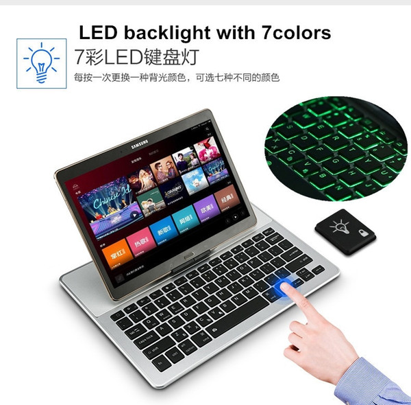 Mobile phone tablet universal Bluetooth keyboard 7 color LED light bluetooth keyboard BL2088 three system universal