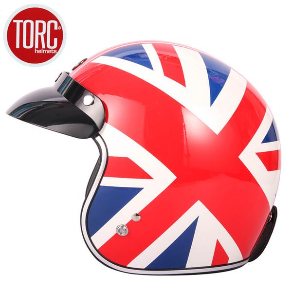 Motorcycle Vintage helmet TORC T50 open face helmet DOT approved half Retro moto casco capacete motociclistas capacete
