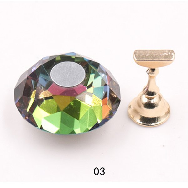 Nail Art Crystal Tips Stand Magnetic Tip Practice Display Holder Set Beauty Clip Gel Polish Manicure Salon Tool