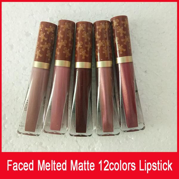 Frete grátis! Batom Líquido Matte Derretido 12 Cores Rosto Lip Gloss LÍQUIDO Batom Fosco Maquiagem Face Derretida Lip Gloss Longo Desgaste