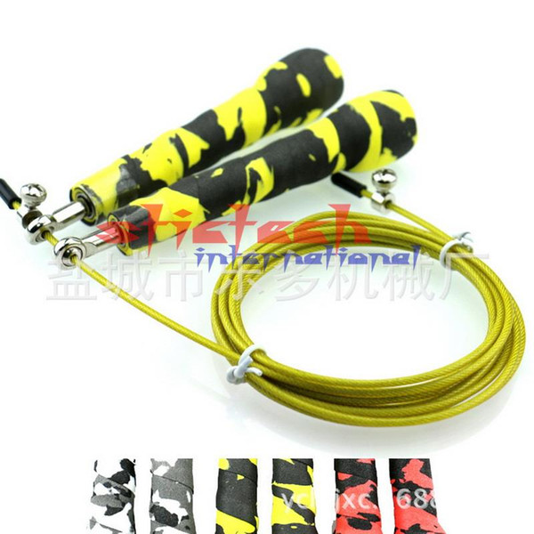 by dhl or ems 50pcs Brand New Speed Skipping Jump Rope Adjustable Steel Wire Crossfit Exercise Gym Training