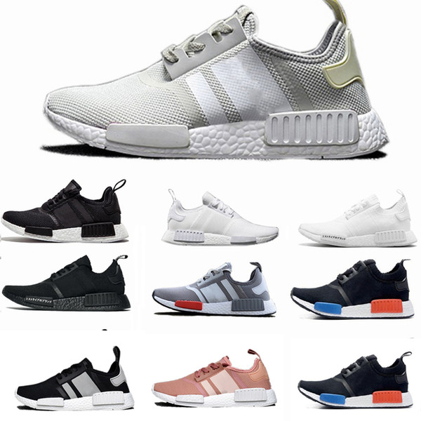 9038073ee 2019 Wholesale Discount Cheap pink red gray NMD Runner R1 Primeknit PK Low  Men s   Women s shoes Classic Fashion Sport Shoes