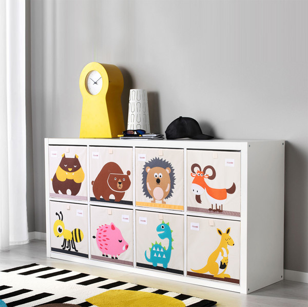 3D Embroider Cartoon Animal Foldable Storage Box kid Toy organizer Clothes Storage Bin for Socks Underwear Ties Bra desktop box