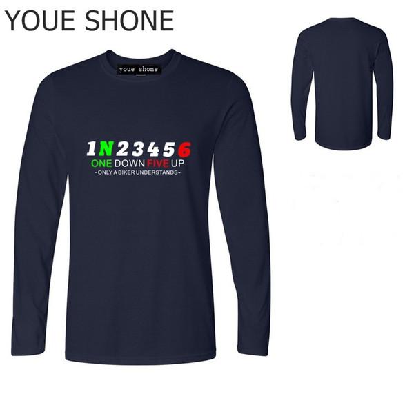 Maglietta uomo manica lunga 1N23456 maglietta moto maglietta maglietta Honda maglietta yamaha racer Maglietta Speed Passion Pullover