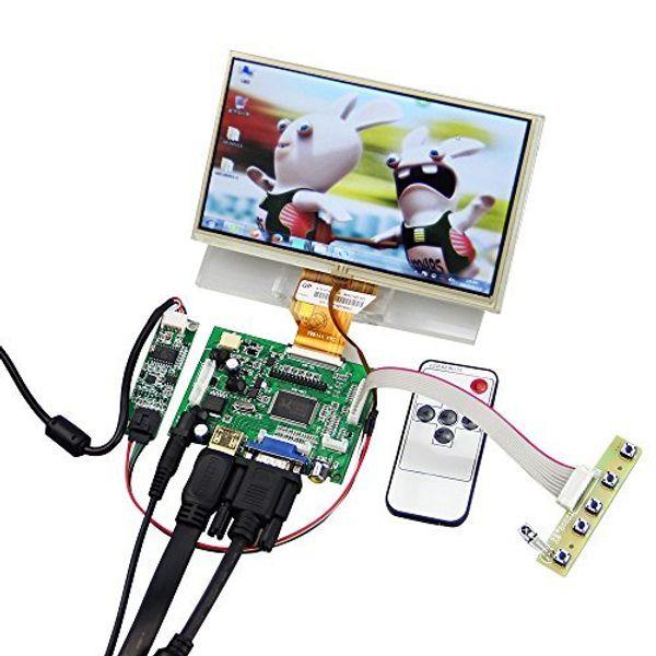 7'' LCD TFT Monitor Screen with Touchscreen Digitizer with Remote Raspberry Pi Driver Control Board 2AV HDMI VGA