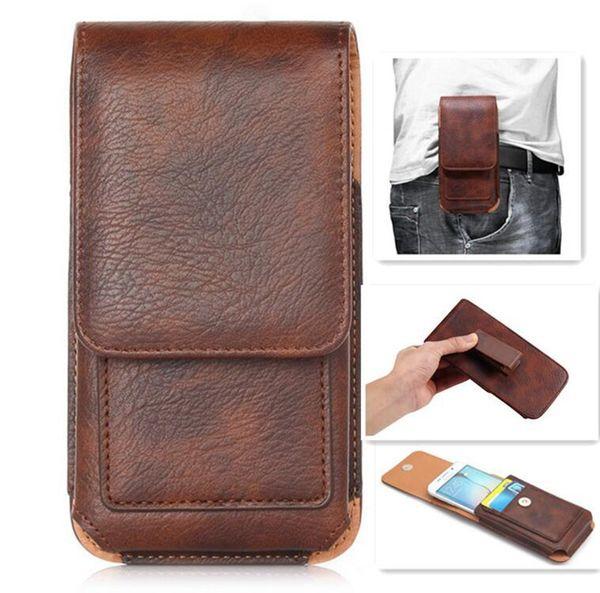 Universali Custodie Cellulari per Iphone Samsung LG Moto Huawei custodia universale della clip del supporto di carta di cuoio del sacchetto della vita del pacchetto del sacchetto di vibrazione coperture mobili