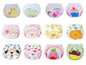 Hot Sales Cute Baby Diapers Reusable Nappies Cloth Diaper Washable Infants Children Baby Cotton Training Pants Panties Nappy Changing