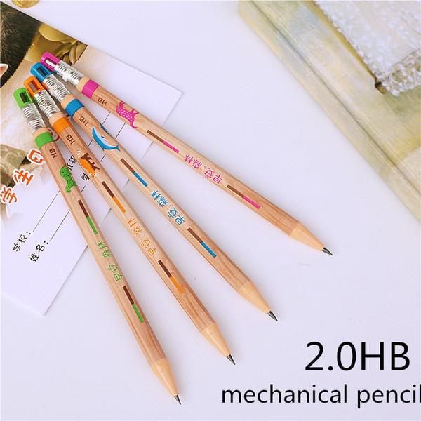 Mechanical Pencil 2.0 mm Lead Refill can add pencil refills Automatic Pencil 4 colors random 10PCS Color Random