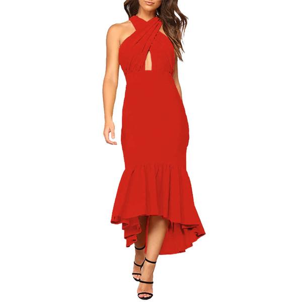 d0d5c5c6f venta al por mayor verano 2018 mujeres vestido de verano asimétrico fuera  del hombro sin mangas