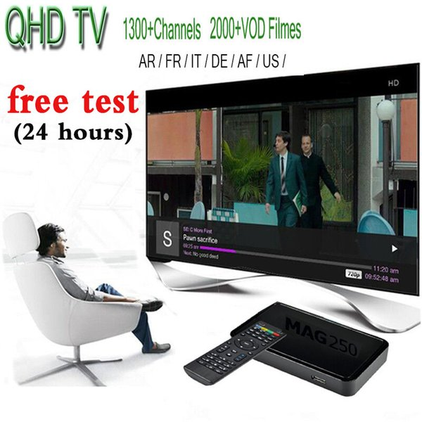 Mag 250 IPTV Android Smart TV Box with QHDTV live Sports UK Germany 1300+ Europe IPTV Arabic Channels Streaming IPTV Account