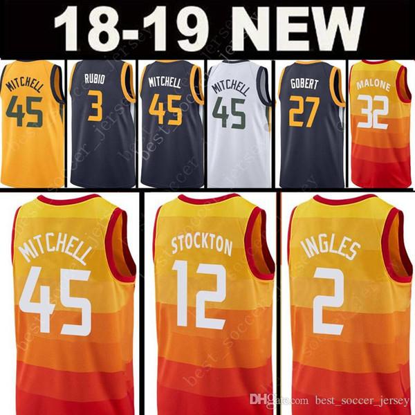 ddde0ecddd4 Basketball-NBA Fan Apparel   Souvenirs Top 45 Donovan Mitchell 27 Rudy  Gobert 3 Ricky Rubio JERSEY 2 Joe ...