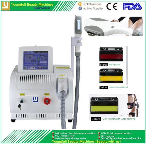 Portable Optimal Pulsed Light skin rejuvenation freckle remove beauty equipment ipl spa salon machine ipl elight laser hair removal machine