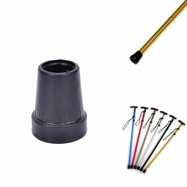 1Pcs Rubber Walking Hiking Stick End Cover Tips Cane Crutch Pad Rubber Heavy Duty Metal Ferrule End Bottom 19mm