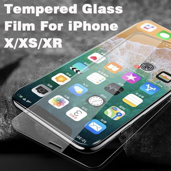 Tempered Glass Film For iPhone 6 7 8 X XR XS Max Front cell phone protective film