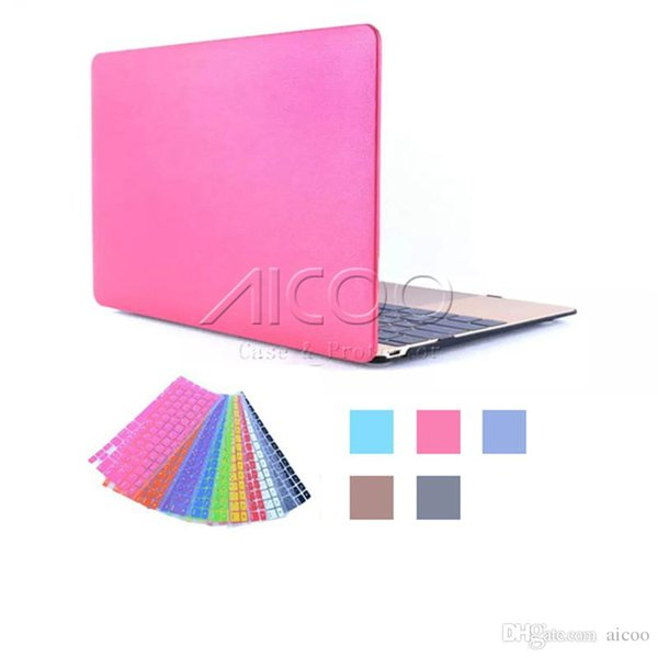 Ultrathin rubberized Skin Shell Full Macbook Case for 11.6 12 13.3 15.4 inch Macbook Air Pro Retina A1706 A1707 A1708 Keyboard Protector