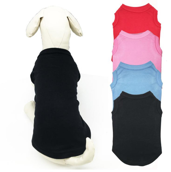 Pet TShirts Summer Solid Dog Clothes Fashion Classic T Shirts Cotton Clothes Dog Puppy Small Dog Clothes Cheap Pet Apparel XS-XL a819