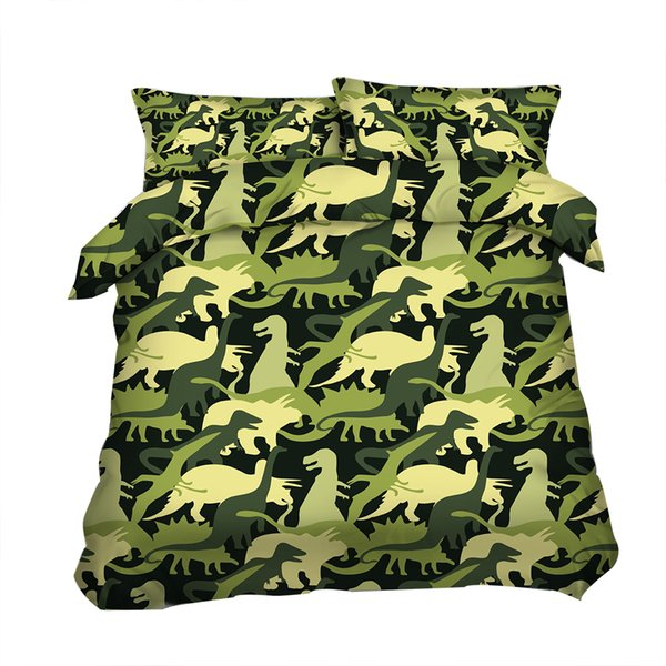3D green Duvet Cover Animal Dinosaur Bedding Sets Bedspreads Holiday Quilt Covers Bed Linen Pillow Covers queen