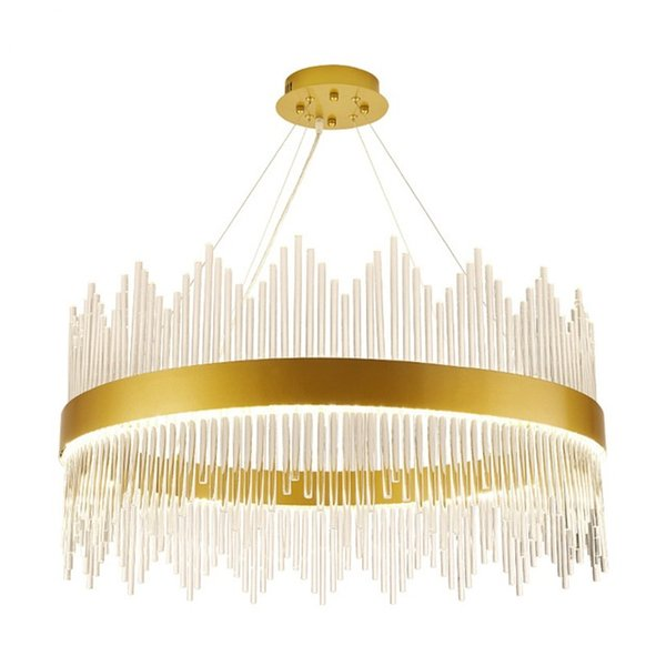 New comming!!Modern Crystal Chandelier Round Luxury Dining Room Suspension Luminaire Home Decoration LED Hang Lighting Fixture